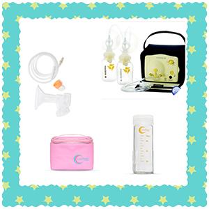 Kit de extração de leite materno